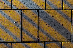 Contrasting angular lines on concrete paving block stones Royalty Free Stock Photos