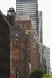 Contrasting architectural styles in New York City. Contrasting architectural styles in Manhattan Stock Photography