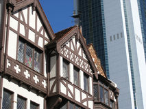 Contrasting architecture. Contrasting architectural styles in Perth, WA, Australia Stock Photography