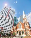 Contrasting arctitecural styles in Brisbane city Australia Stock Image