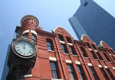 Free Contrasting Culture, Downtown Fort Worth, TX Royalty Free Stock Photos - 1063078
