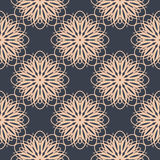 Contrasting floral pattern. Seamless background with flowers in dark blue and light pastel pink colors. Vector. Contrasting floral pattern. Seamless background Royalty Free Stock Image
