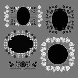 Contrasting frames. With floral elements Royalty Free Stock Photography