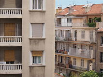 Contrasting French Architecture Stock Image