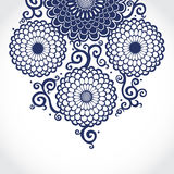 Contrasting pattern with large flowers and curls. Royalty Free Stock Photography