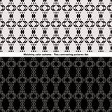 Contrasting Patterns Set Royalty Free Stock Images