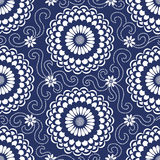 Contrasting seamless pattern with large flowers. Stock Images