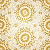 Contrasting seamless pattern with large flowers and curls. Stock Image