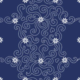 Contrasting seamless pattern with small flowers . Royalty Free Stock Image