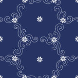 Contrasting seamless pattern with small flowers. Stock Image