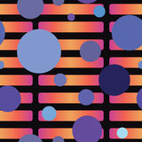 Contrasting Seamless Pattern. A contrasting seamless pattern with warm colored rectangles overlapped by cool colored circles Royalty Free Illustration
