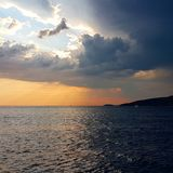 Contrasting sunset royalty free stock images