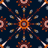 Geometric seamless background. Contrasting symmetrical pattern of geometric shapes stock illustration