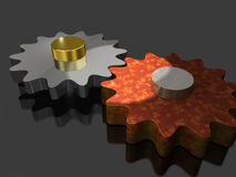 Contrasting the two gears Royalty Free Stock Images