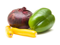 Contrasting vegetables Royalty Free Stock Photography