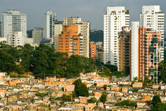 Paesaggio urbano di Sao Paulo Fotografia Stock Libera da Diritti