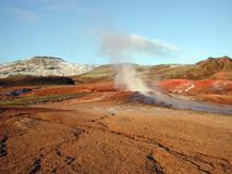 Contrasts in landscape. Landscape pic with contrasts from Geysir, Iceland Royalty Free Stock Image