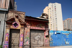 Contrasts Of Santiago Royalty Free Stock Photography