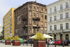Contrasts in Warsaw, Grzybowski square Royalty Free Stock Photography