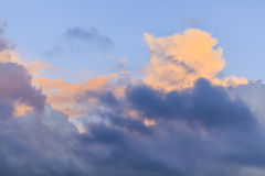 Contrasty colorful storm clouds in the sky Royalty Free Stock Photography