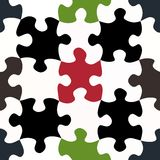 Contrasty jigsaw pieces pattern Royalty Free Stock Photo