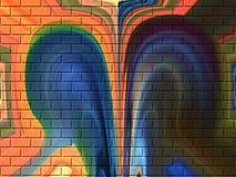 contrasty tegelstenar Fotografering för Bildbyråer