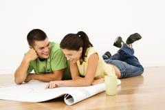 Contrat à terme de planification de couples. Photos stock