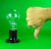 Contrat à terme des lampes à incandescence. Image libre de droits