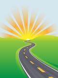 Contrat à terme lumineux de matin de ciel de course d'omnibus Photographie stock libre de droits