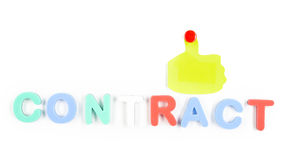 Contrat écrit par des lettres Images stock