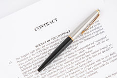 Contrat Image libre de droits