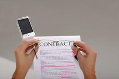 Contrat Images libres de droits
