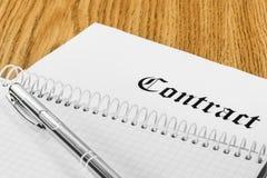 Contrat Photos stock