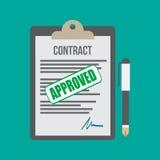 Contrat approuvé Photo stock