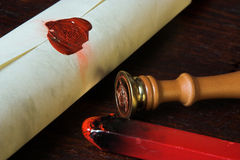Contrat confidentiel Images libres de droits