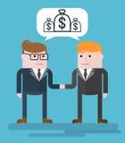 Contrat d'argent de Businessmans Photo libre de droits