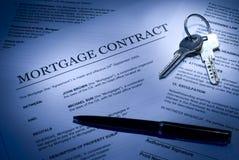Contrat d'hypothèque images libres de droits