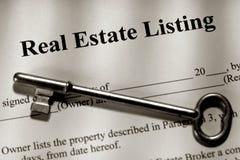 Contrat d'inventaire des biens immobiliers Photo stock