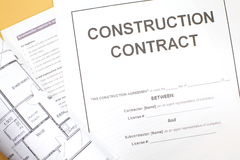 Contrat de construction Image libre de droits