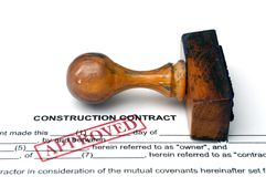 Contrat de construction Image stock