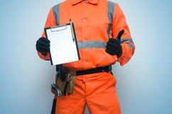 Contrat de construction Liste de difficulté pour faire le calibre de liste photo libre de droits
