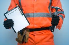 Contrat de construction Plan de construction de liste de difficulté photos libres de droits