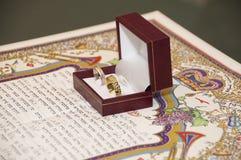 Contrat de mariage Photo libre de droits