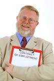 Contrat de travail Image libre de droits