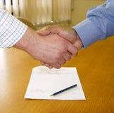 Contrat signé Image libre de droits