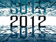 contrat à terme 2012 lumineux Photos libres de droits