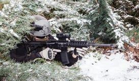 Contratante militar privado imagens de stock