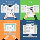Contratar, recrutando, recomeça e entrevista Fotografia de Stock