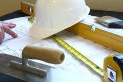 Contratista de construcción de la casa Fotos de archivo libres de regalías