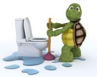 Contratista de la fontanería de la tortuga ilustración del vector